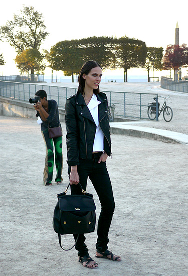 Leather jacket · Perfecto trend · Paris Streetstyle