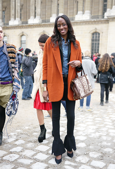 Orange oversize Blazer | Paris Trends