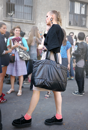 Creepers & Chanel Tote · Streetstyle