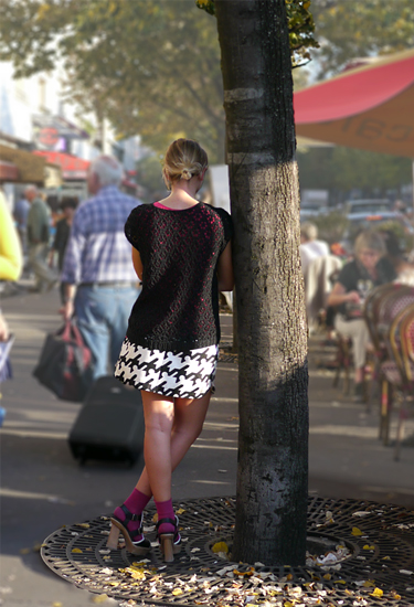 Balenciaga mini skirt in Paris