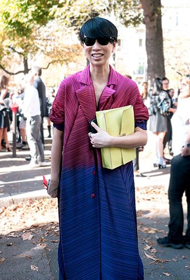 Paris Fashion Week Streetstyle | Issey Miyake