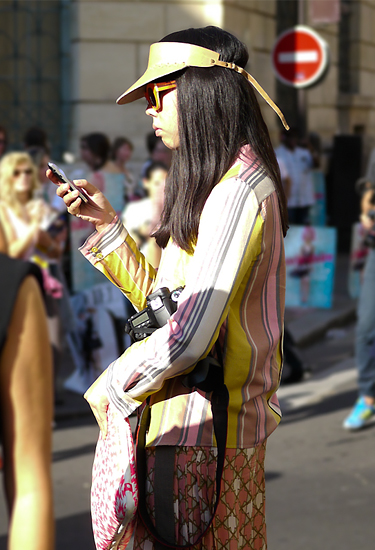 Suzie Bubble aka Style Bubble at Paris Fashion Week