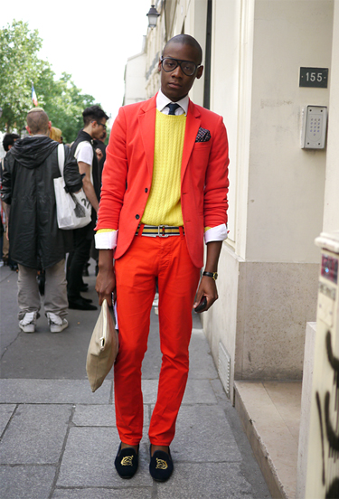 Red Suit · Paris Streetstyle