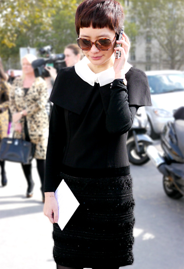 Black and White Collar | Paris Street Look