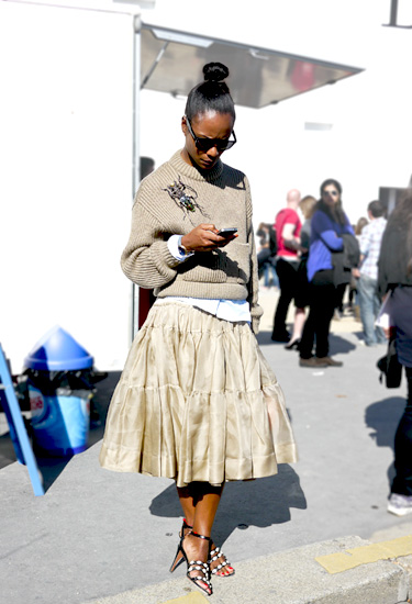 Gorgeous Shala Monroque | Street Style from Paris