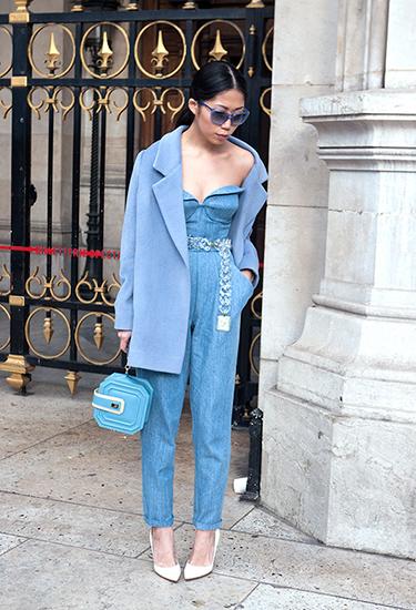 Oksana On Street Style