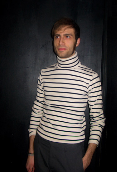 Sailor shirt with turtlneck