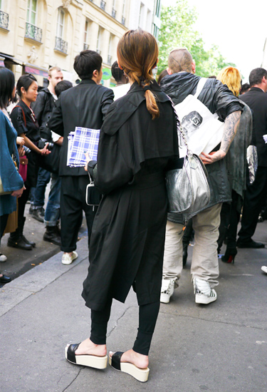 Platform sandals · Paris Streetstyle