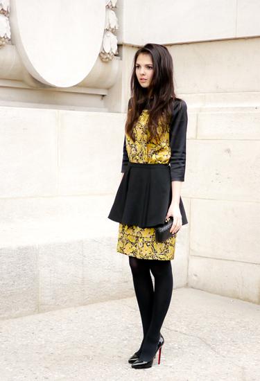 Louboutin & Peplum Skirt | Paris Fashion Week Streetstyle