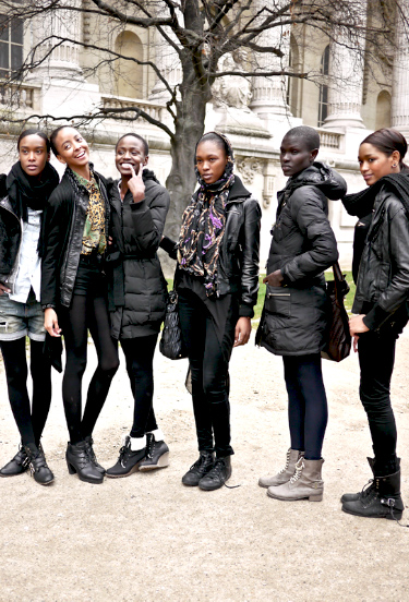 Models Off Duty | Paris Fashion Week | Grand Palais