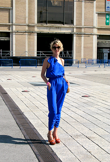 Blue jumpsuit · 080 Barcelona Fashion
