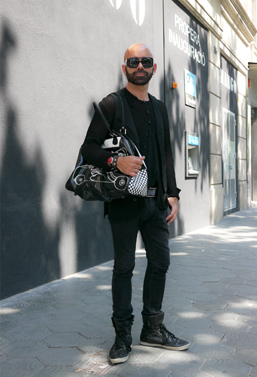 Black look · Barcelona Streetstyle