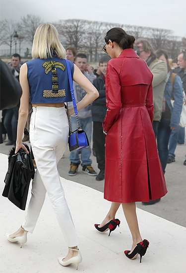 Giovanna Battaglia and Elena Perminova