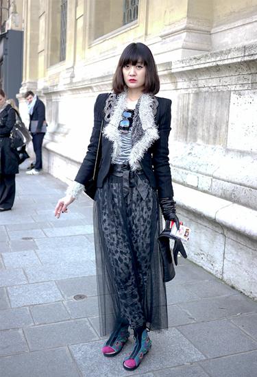 Falda de Tul · Streetstyle Paris