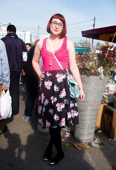 A flower in a flea market