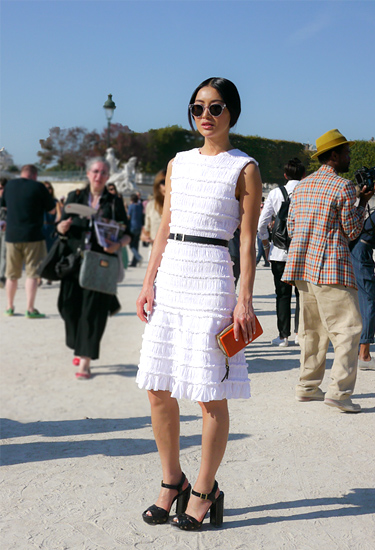 Chloe white dress | Streetstyle in Paris