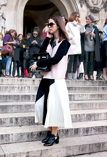 Céline pleated skirt