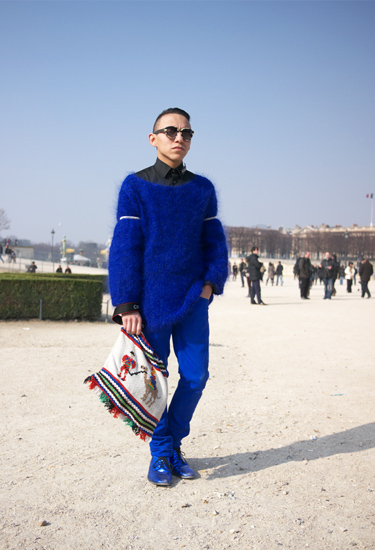 Electric Blue · AX 80 · Paris Streetstyle