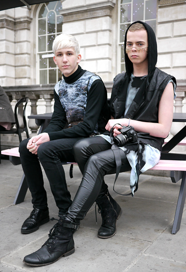 Byron London & Friend | London Fashion Week Streetstyle