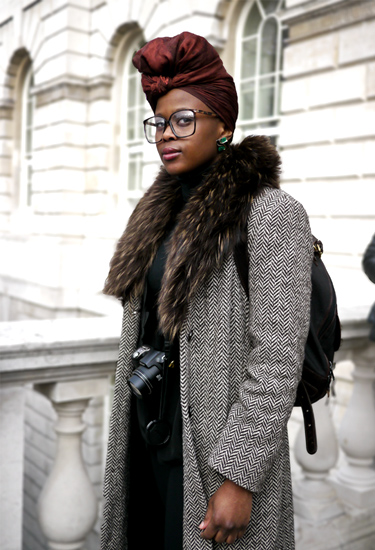 Leila Downs at London Fashion Week | Streetstyle