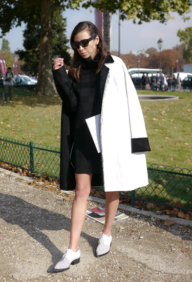 White and Black Coat CELINE