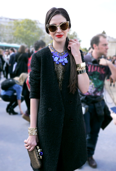 Bold Art Deco Necklace | Street Style