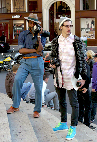 Two streetstyle photographers, two styles