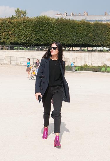 Gilda Ambrosio, Saint Laurent Glitter boots