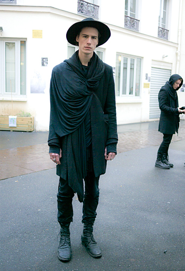 Black and Hat · Paris Fashion Week