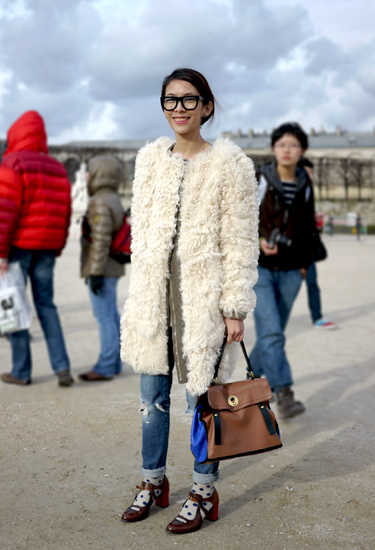 Number21 coat | Streetstyle in Paris