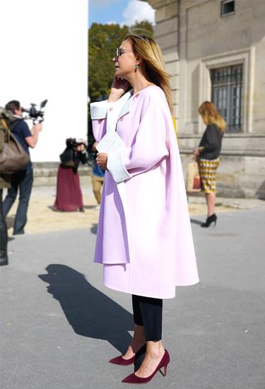 Soft sugar pink wool coat by Jil Sander | Street Style