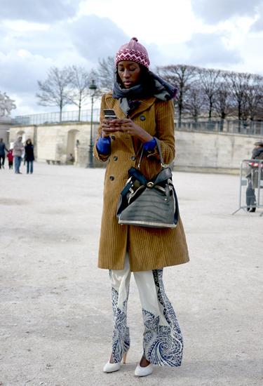 Pajamas and Corduroy | Street trends in Paris