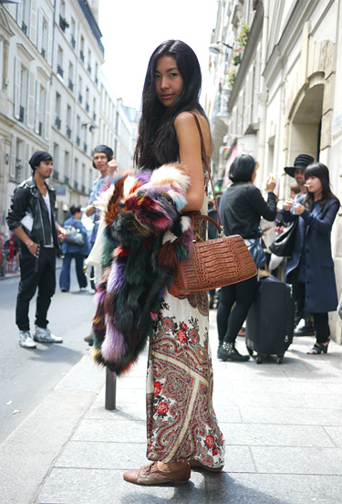 Ethnic maxi dress · Paris Streetstyle