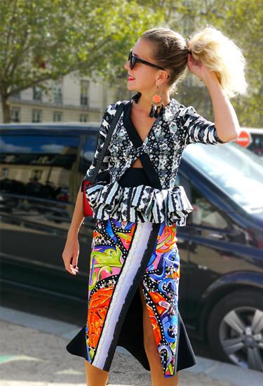 Stunning Natalie Joos in Peter Pilotto | Street Style