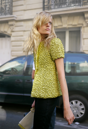 Model off duty . Hanne Gaby Odiele