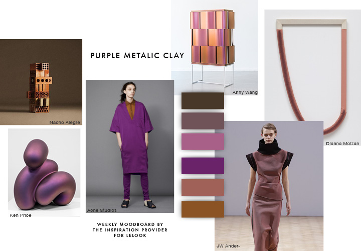 The Inspiration Provider Weekly Moodboard #7 | Purple Metallic Clay