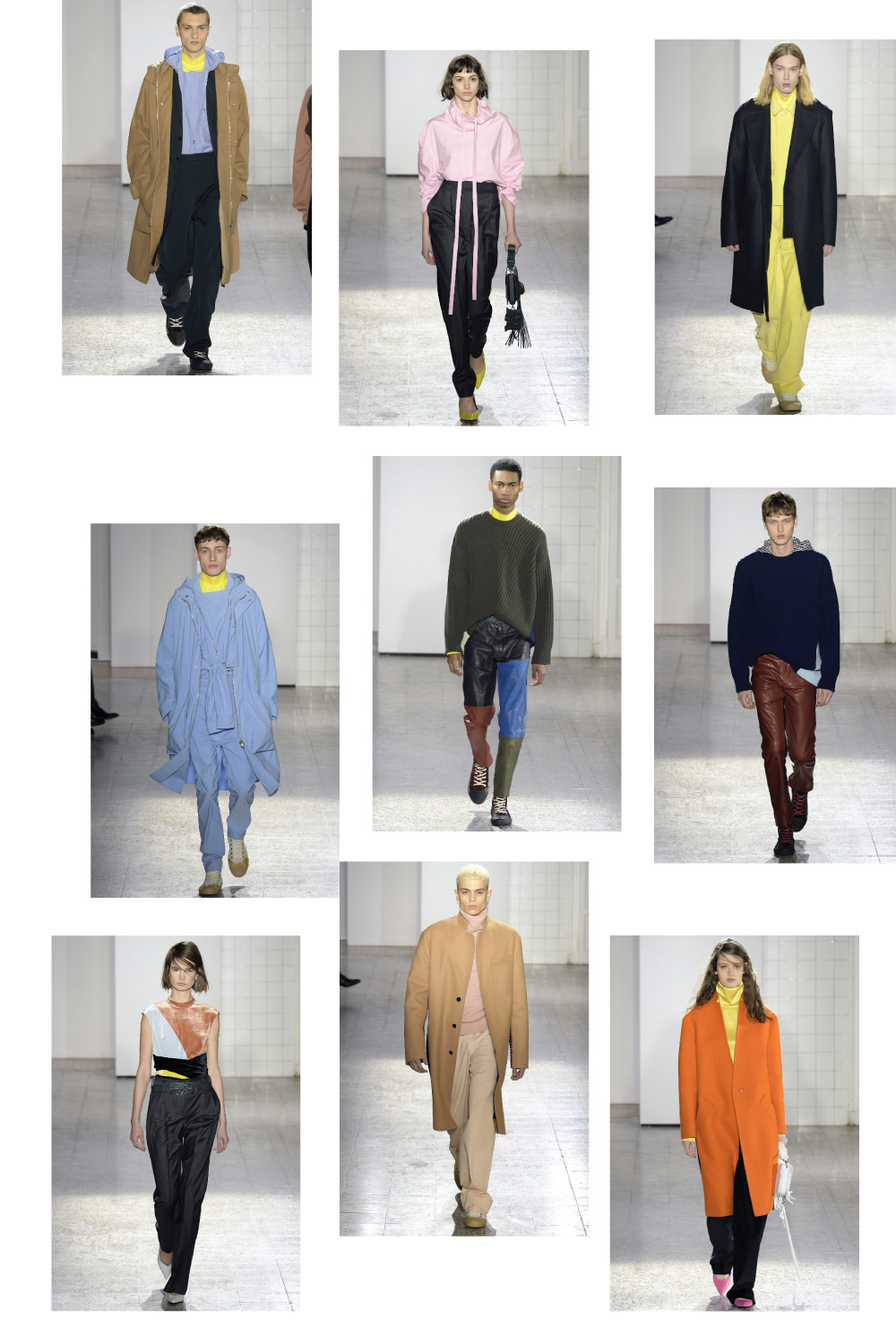 cedric charlier fall 2017 fashion collage by lelook consultancy