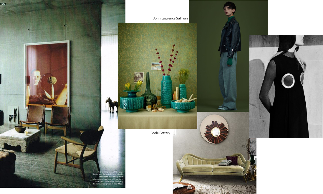 Mood Board. Moss Green.