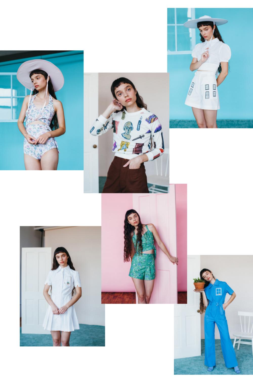 SAMANTHA PLEET spring summer 16 fashion collage