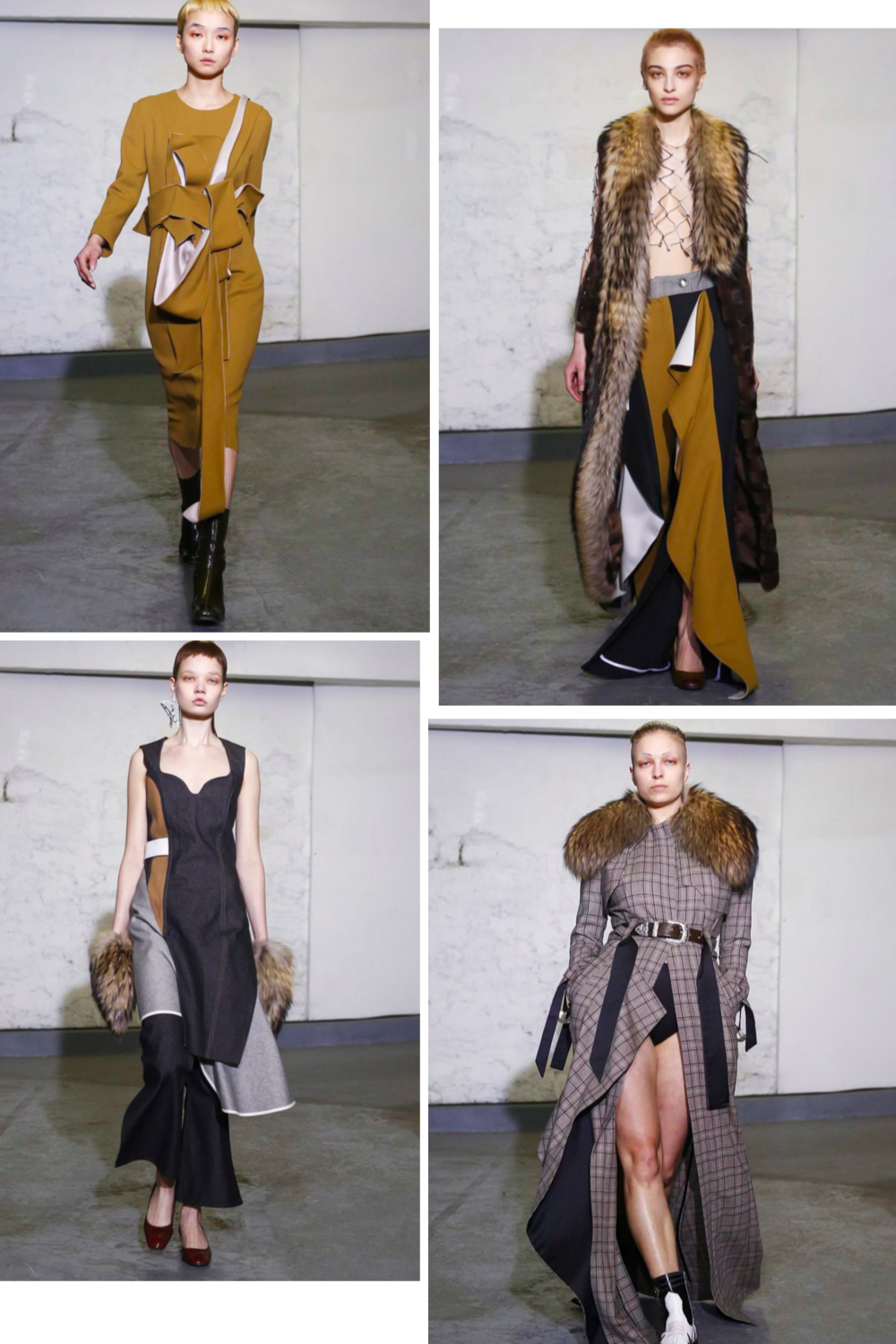 Anne Sofie Madsen Fall Winter 2016 fashion collage