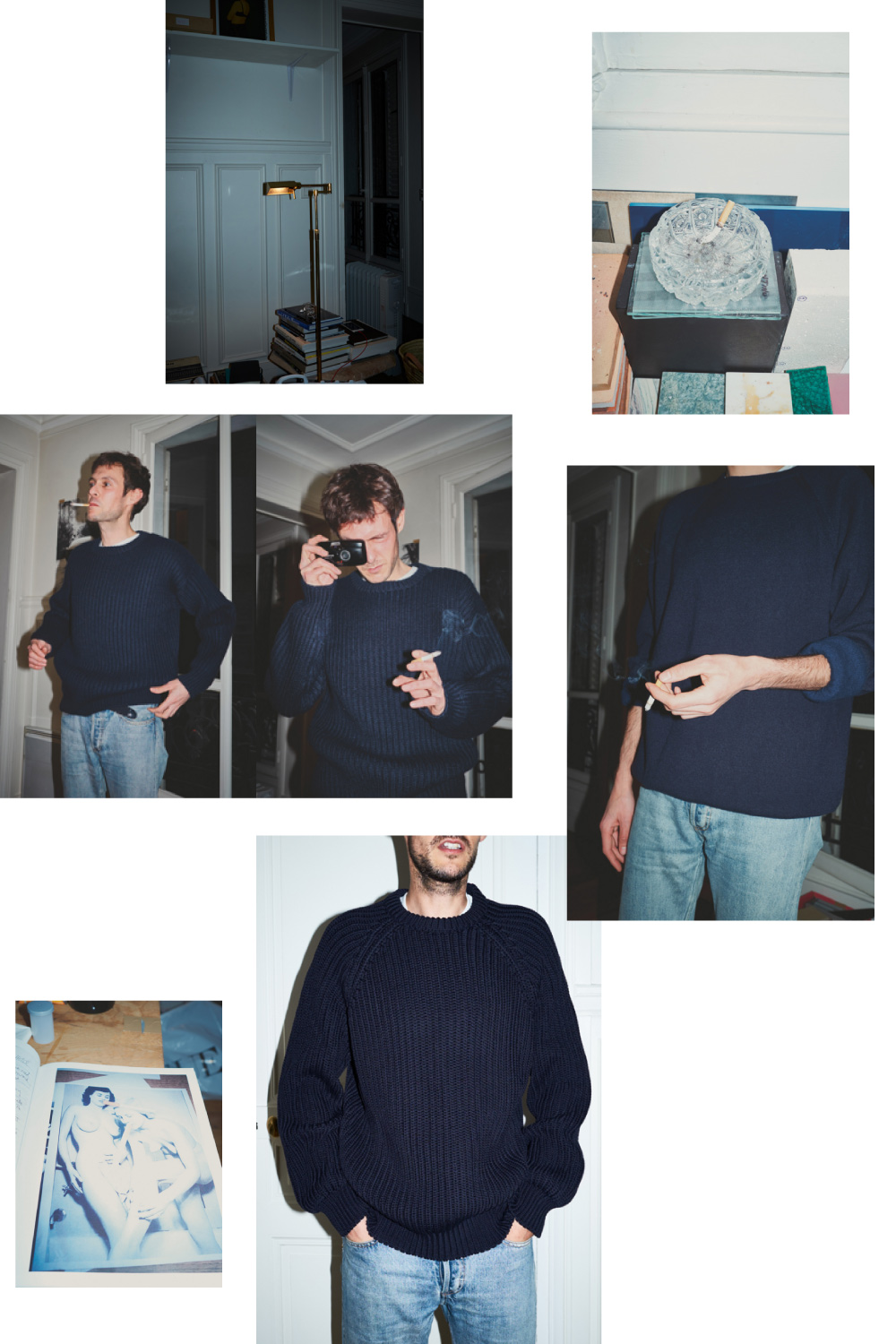 CristaSeya capsule men sweaters fashion collage