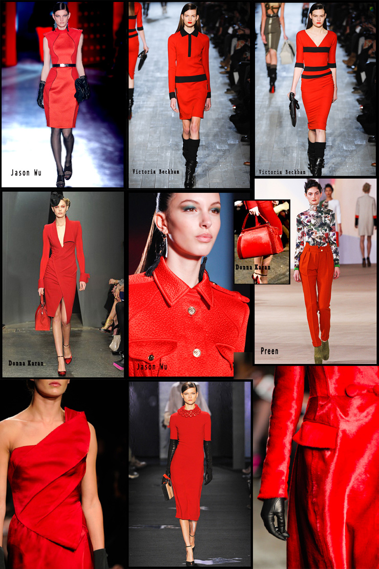 NYFW Trend Alert | Scarlet Red & Close-fitting dresses