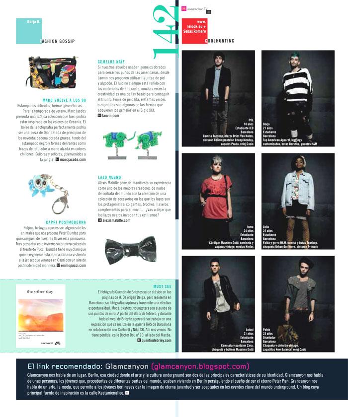 LELOOK en HMagazine Febrero10